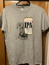Lagunitas Brewing Medium Ipa Beer T Shirt Petey the Dog Eye Covered by Can