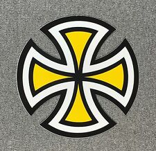 Independent Truck Cut Cross Skateboard Sticker 4in yellow si