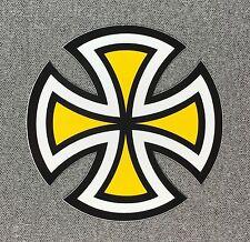Independent Truck Cut Cross Skateboard Sticker 4in yellow si