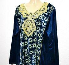 Maxikleid Abendkleid arabisches Samtkleid Winterkleid Abaya Jellabiya M - 3XL