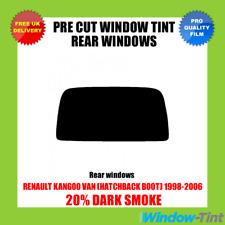 RENAULT KANGOO VAN (HATCHBACK BOOT) 1998-2006 20% DARK REAR PRE CUT WINDOW TINT