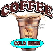 Cold Brew Coffee DECAL (Choose Your Size) Concession Food Sticker