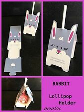 10 pcs Rabbit /Bunny Lolly / Lollipop Card Holder Easter Party Table Favour Gift