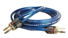 Hi-Fi Audio/Speaker Wire Cable 12 Gauge 8 feet 24K Banana Plugs 99.99% Copper