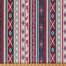 Southwest Aztec Bull Denim Print Fabric by the Yard D914.01