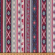 Southwest Aztec Bull Denim Print Fabric by the Yard D914.01