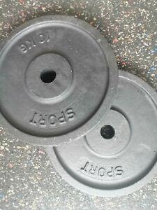 Hantelscheibe Gewichte Gusseisen 2x10kg Gesamt 20kg