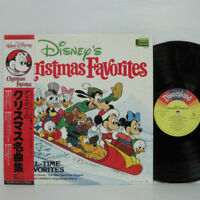 DISNEY'S CHRISTMAS FAVORITES LP 1979 JAPAN Disneyland ANIME VERY RARE w/ obi