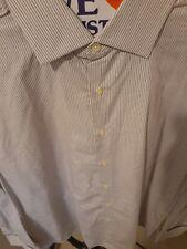 Men XL Purple stripe Merona Cufflink dress Shirt