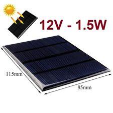 Placa Panel Solar 12V 1.5W 125mA - Silicio Monocristalino - Alto Rendimiento