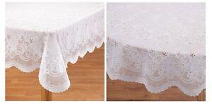 Elegant Vinyl Lace Tablecloth, Easy Clean And Durable Crochet Vinyl Lace Design