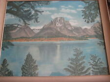 "OLD PASTEL PAINTING W/NICE WOODEN FRAME SIGNED BY W.M. FRIEDELL, 27.5"" X 21.5"""