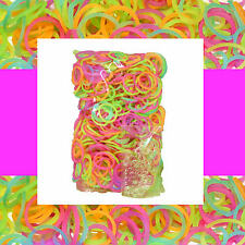 GLOW IN THE DARK Loom 600 Bulk Rubber Bands for Rainbow Refill /w S-clip (25)