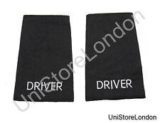 Epaulet Driver Epaulette Sliders Plain Black Cloth  DRIVER  R1349
