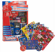 500 Transformers Stickers Kids Fun Super Sticker Set