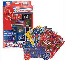 500 Transformers Stickers Kids Fun Super Sticker Set