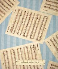 Honeymoon Cottage Wedding March Sheet Music Blue Hill Cotton Fabric 1.7 YARDS