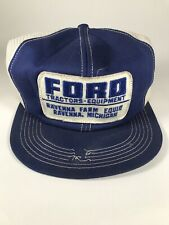 K Brand Ford Tractors & Equipment Hat Mesh Back Snap Adj. *Needs Work