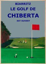 Chiberta Biarritz Le Golf, France, 1948, Vintage Golf Golfing Poster