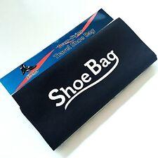 "Black TRAVEL SHOE BAG DRAW STRING GOLF STORAGE NON-WOVEN FABRIC 16"" x 12"" New"
