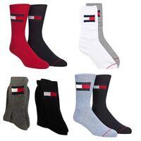 Tommy Hilfiger Men's Logo flag Crew Socks New pack 2  New