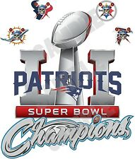 New England Patriots Super Bowl 51 Champions Decal/Sticker