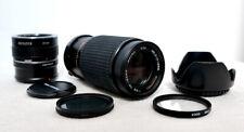 Olympus PEN OM Panasonic LUMIX Micro 4/3 DSLR Macro Portrait Zoom Lens Kit EPL +
