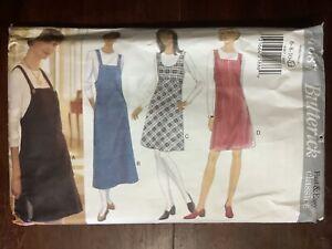 Vintage 1995 BUTTERICK Fast & Easy Miss' Jumper Dress Pattern 4087  Size 6-12