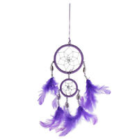 Handmade Dream Catcher with Feathers Decoration Ornament Double Rings