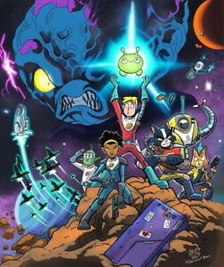 "001 Final Space 2020 - Fun Cartoon Gary Mooncake TV 24""x28"" Poster"