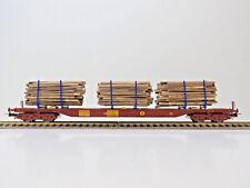 Holztransportwagen Sgs der Three T,Schweden, Ep.V,NMJ Topline HO,613.103,NEU