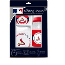 ST. LOUIS CARDINALS 3 PIECE BABY GIFT SET BPA FREE NEW & OFFICIALLY LICENSED