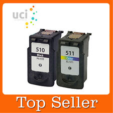 2 Ink Cartridge For PG510 CL511 Pixma MP272 MP280 MP480 MP490 MP492 MP495