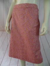Talbots Skirt 12 Pink White Orange Floral Circle Cotton Spandex Stretch New
