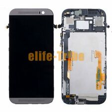 LCD Display + Touch Screen Assembly with Frame for HTC One M8 Gray