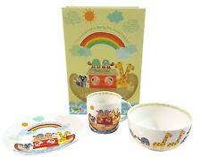 Juego de 3 de Noé Arca infantil porcelana fina desayuno Juego Plato Bol Taza