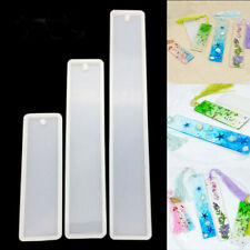 Rectangle Silicone Bookmark Mold DIY Making Epoxy Resin Jewelry Craft Mould S-L