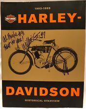 *SIGNED* 1903-1993 Harley-Davidson : Historical Overview Book - Willie Davidson