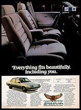 1982 Buick Skyhawk Compact Car Cabin Automobile Vintage Photo PRINT AD 1980s