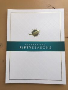 MIAMI DOLPHINS FIFTY SEASONS LIMITED EDITION EVENT PROGRAM SHULA GRIESE MARINO