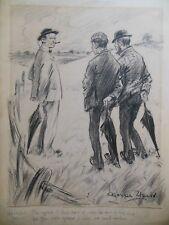 Original Victorian R Jasper Weird (Punch) Cartoon IIlustration - c1901, Landlord