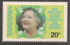 Tanzania #268 (A43)  VF MNH - 1985 20sh Queen Mother Facing Left, 85th Birthday