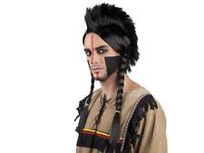 Indianer-Kostüm Karneval Indianer-Perücke Sioux Irokese Iro Punk Fasching 86413