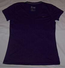 Womens Nike Dri Fit V-Neck Shirt Active Wear Regular Fit Sz Medium M Purple