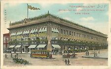 1911 Churchill's Department Store, 49th & Broadway, New York City, NY Postcard