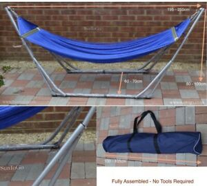 Folding Hammock Steel Stand Camping Outdoor Travel Swing