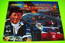 Mario Andretti Pinball Machine Translite Art Sheet Nascar Original NOS Gottlieb