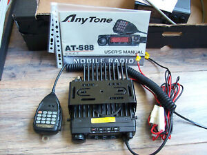 Anytone VHF Transceiver AT-588 60W Mobile Radio 2m 136-174MHz
