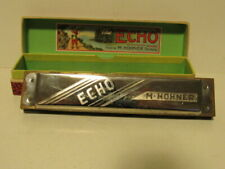 "Vintage M. Hohner The Echo Harmonica In C In Original Box 51/2"" Made In Germany"