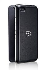 100%25 Genuine Blackberry Z30 Leather Flip Case ASY-55473-001 Cover Shell - Black